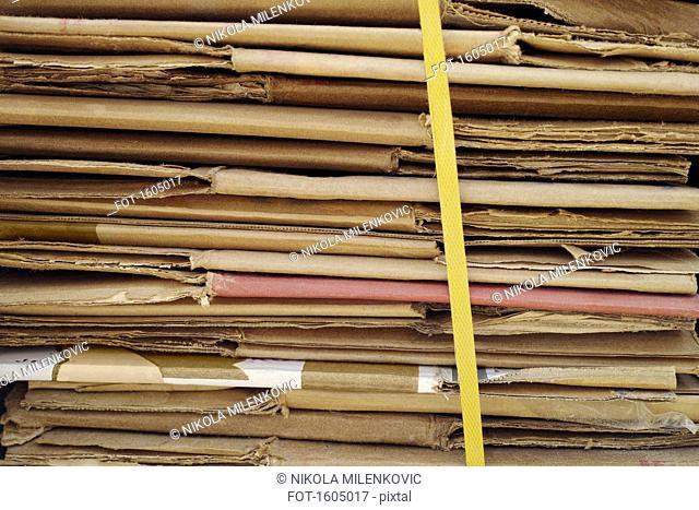 Stack of folded cardboard
