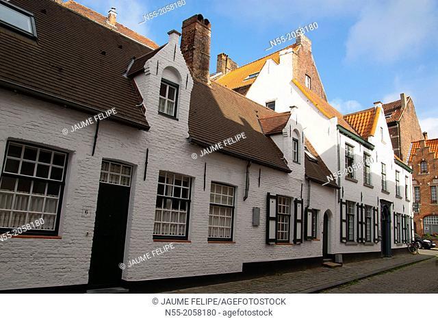 Houses. Bruges, West Flanders, Belgium