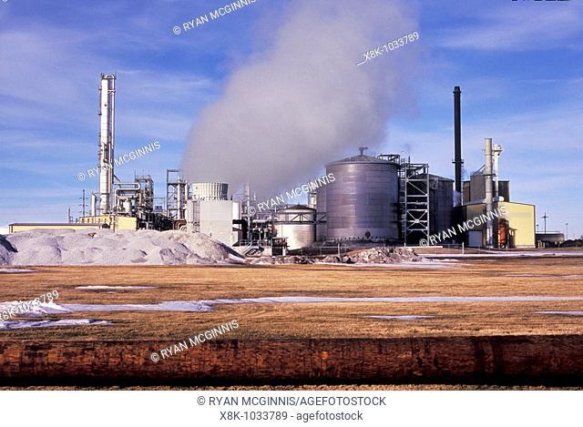 The Chief Ethanol Fuels ethanol distillery in Hastings, Nebraska, USA  Shot on Velvia film