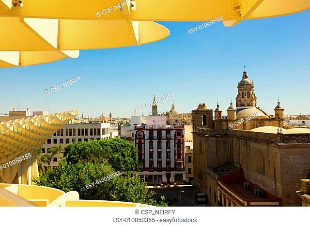 cityscape of Seville, Spain