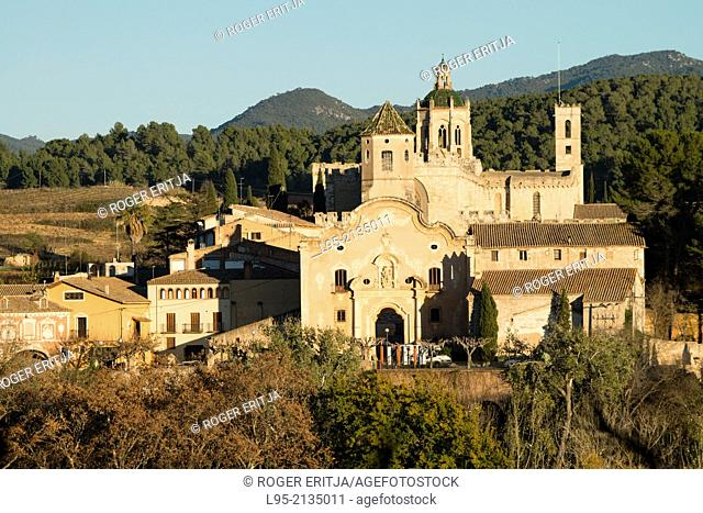 View of the monastery of Santes Creus, Spain