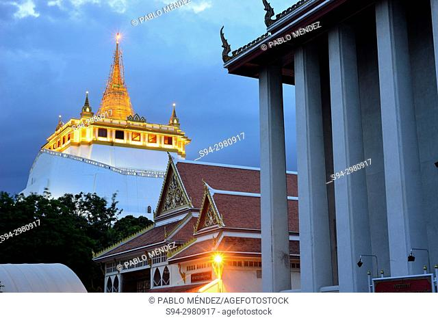 View of the Golden Mount, Bangkok, Thailand