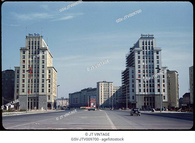 Stalinallee, East Germany, German Democratic Republic, 1961
