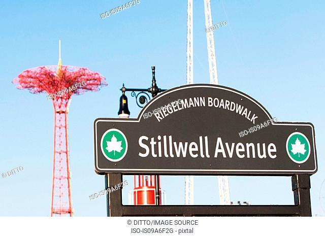 Street sign, Coney Island, New York City, USA