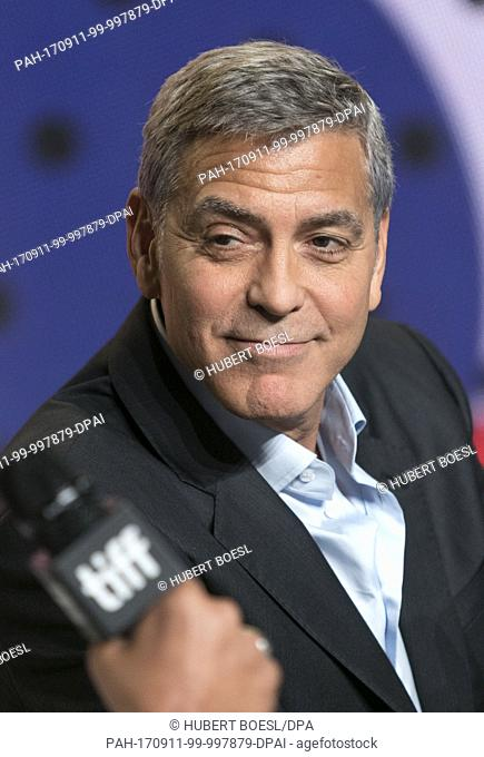 George Clooney attends the press conference of 'Suburbicon' during the 42nd Toronto International Film Festival, tiff, at Bell Lightbox in Toronto, Canada