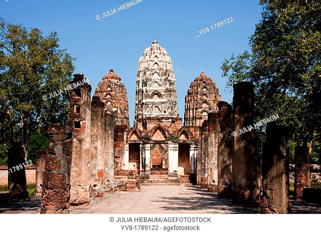 Wat Si Sawai in Sukhothai, Thailand