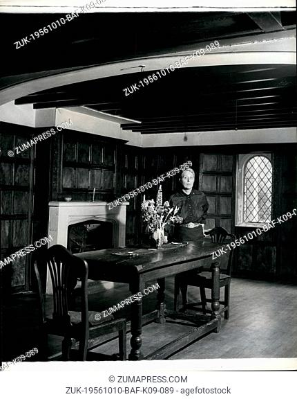 Oct. 10, 1956 - A Root of England's History is leased by an American: Magna carta island and its old house taken over by Miss Alberto Bigelow: American...