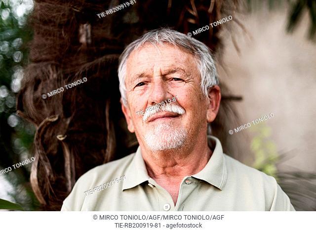 The writer Imre Oravecz poses for photographers at Literature Festival Pordenonelegge 2019, Pordenone, ITALY-19-09-2019