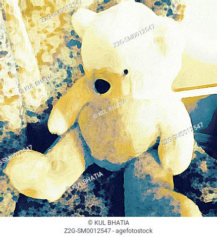 Teddy bear, like a painting, Canada