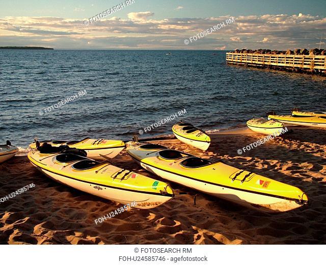 Little Sandy Bay, WI, Wisconsin, Lake Superior, kayaks, beach