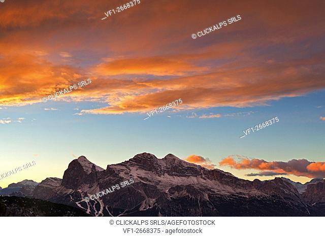 Tofane group, Ampezzo Dolomites, Cortina d'Ampezzo, Belluno, Veneto, Italy