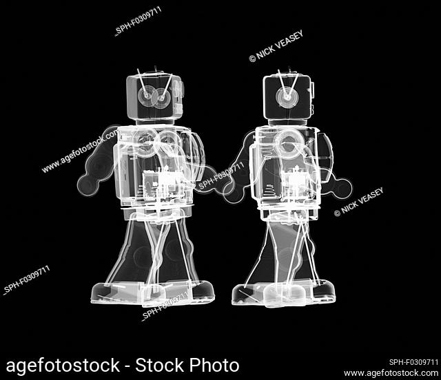 Toy robots, X-ray