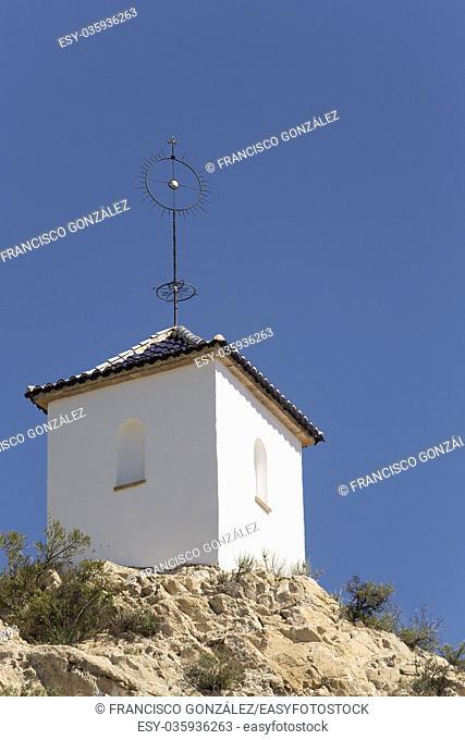 Hermitage cave of San Pascual in Orito de Monforte del Cid, province of Alicante in Spain
