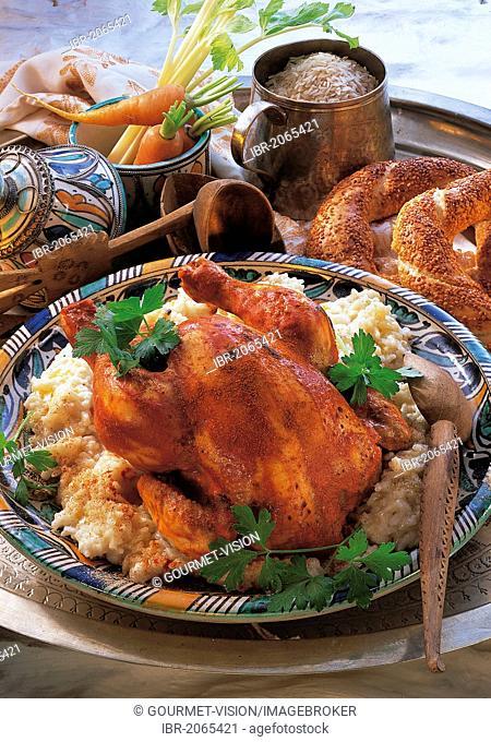 Rice-chicken pilaf, Lebanon