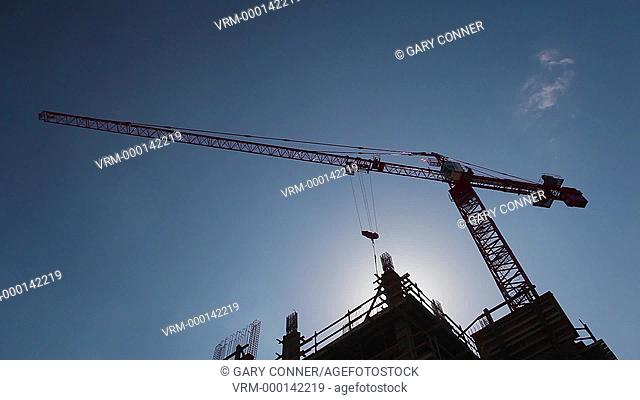Construction Site in Los Angeles, California, USA