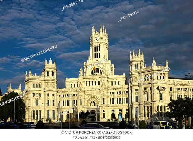 Madrid City Hall (Cibeles Palace) facade