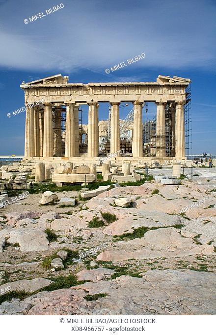 Parthenon in the Acropolis  Athens, Greece, Europe
