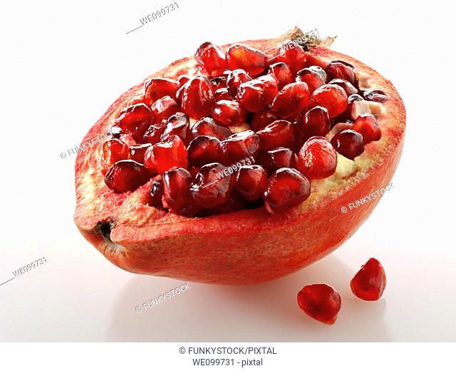 Fresh cut pomegranates