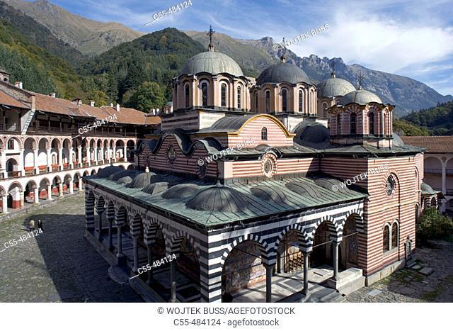 Church of the Nativity, Rila monastery. Bulgaria