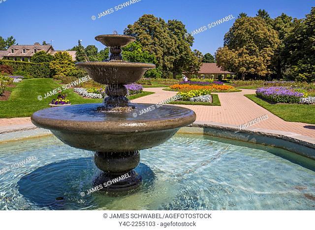 Fountain at Niagara Parks School of Horticulture in Niagara Falls Ontario Canada