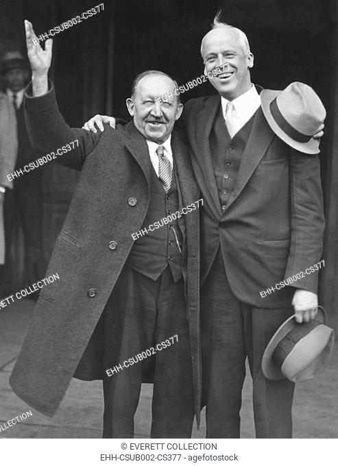 1932 Socialist national candidates. Norman Thomas (right) ran for President with James Maurer, Mayor of Reading, Pennsylvania