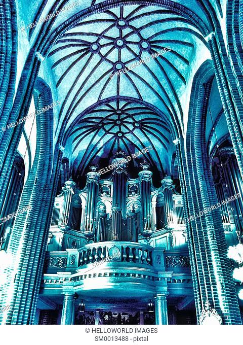 Gothic-baroque interior of Storkyrkan (Stockholm Cathedral), Gamla Stan, Stockholm, Sweden, Scandinavia