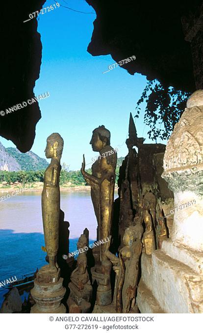 Tham Ting sacred cave. Pak Ou Caves. Luang Prabang. Laos