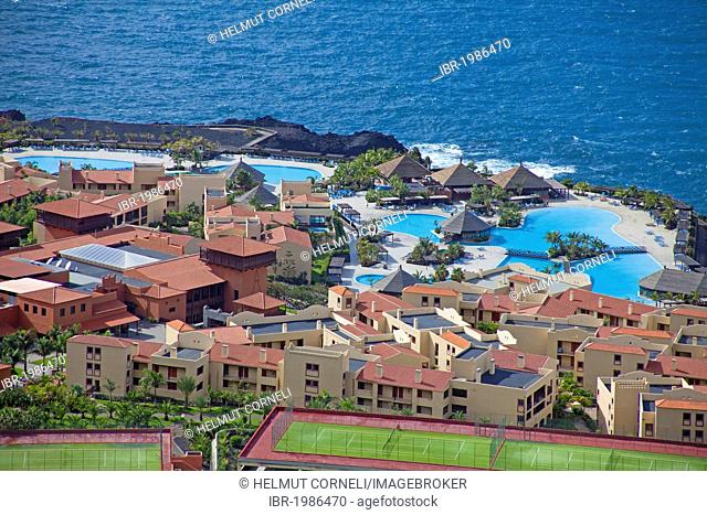 La Palma Princess Hotel and Teneguia Princess Hotel, larges pool complex in the Canaries, Las Indias, near Fuencaliente, Los Canarios, La Palma, Spain
