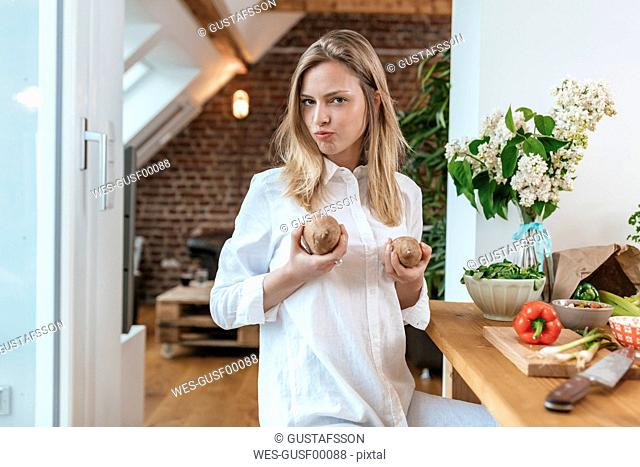 Portrait of woman in the kitchen