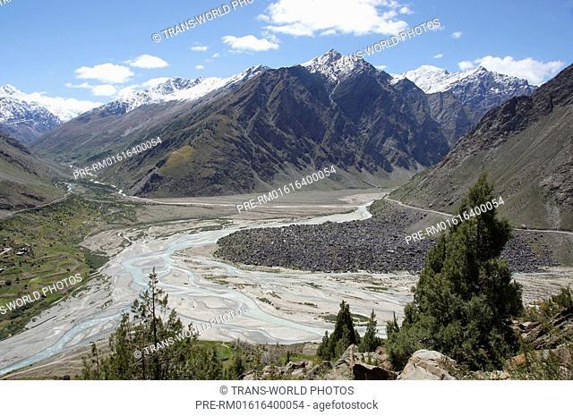 Bhaga River, Manali-Leh Highway, Lahaul and Spiti, Himachal Pradesh, India / Fluß Bhaga, Manali-Leh Highway, Lahaul und Spiti, Himachal Pradesh, Indien