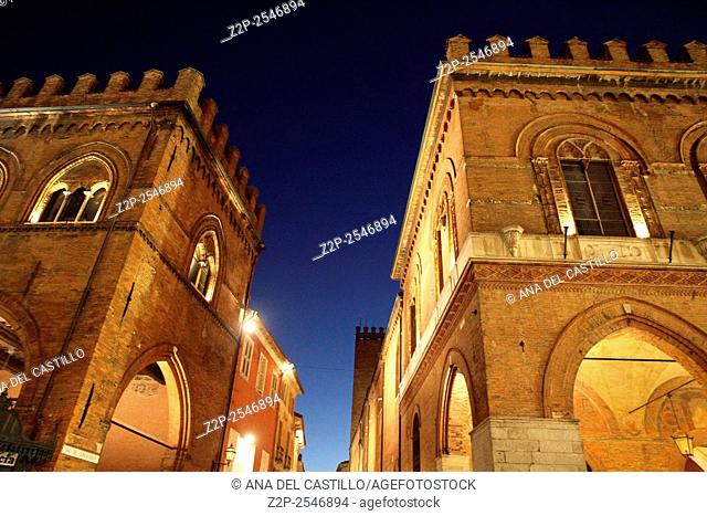 The medieval town hall palace in Cremona Lombardy Italy