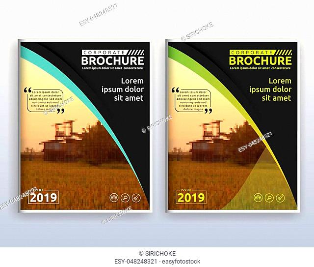 Multipurpose modern corporate business flyer layout design. Suitable for flyer, brochure, book cover and annual report. 8