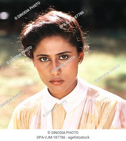 1984, Portrait Of Indian film actress Smita Patil