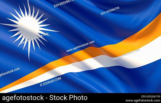 Background with flag of Background with flag of Marshall Islands