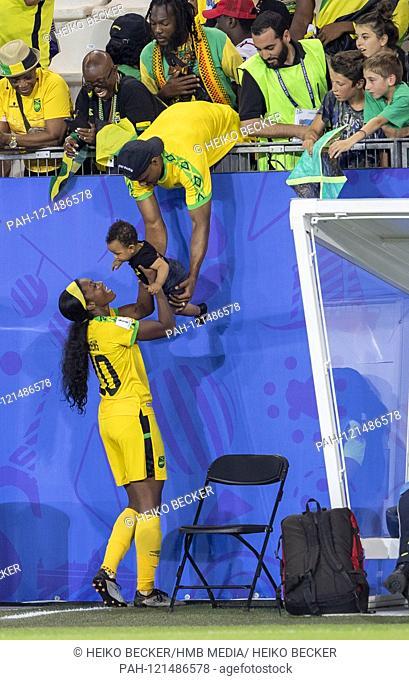 France, Grenoble, Stade des Alpes, 18.06.2019, Football - FIFA Women's World Cup - Jamaica - Australia Image: from Cheyna Matthews (Jamaica