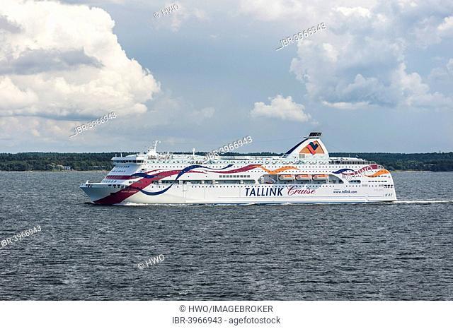 Ferry Baltic Queen of AS Tallink Grupp, during the crossing from Tallinn to Helsinki, Pringi, Harju County, Estonia
