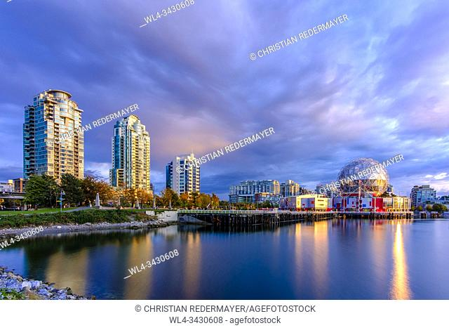 False Creek and Science World during a wondeful sunset