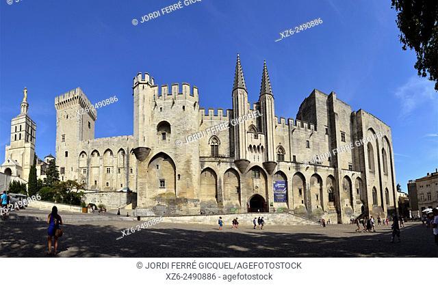 Palais des Papes, Palace of the Popes, Avignon, Vaucluse, 84, Provence-Alpes-Côte d'Azur, France, Europe