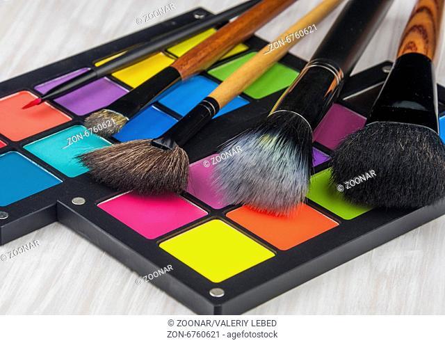 Professional make-up brush cosmetic on white background