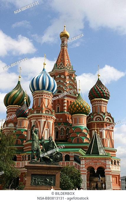 Russia, Moscow, red square, St  Basil Cathedral