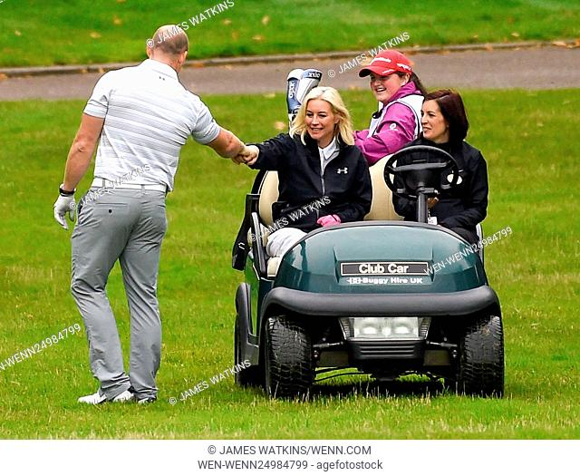 The Celebrity Cup 2016 at Celtic Manor, Wales Featuring: Denise Van Outen, Mike Tindall Where: Wales, United Kingdom When: 09 Jul 2016 Credit: James...