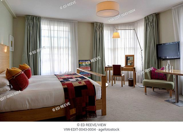 Hotel Megaro is situated opposite Kings Cross St Pancras train station, London. An urban base, Megaro combines 49 rooms with a