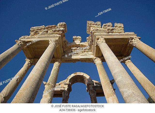 Tetrapylon, ruins of Aphrodisias. Turkey