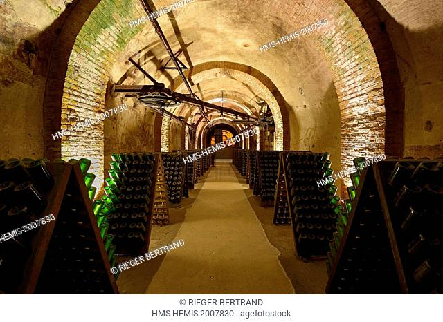 France, Marne, Reims, champagne, Pommery's wine cellars