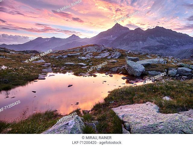 High-Iser, Glockner Group, Hohe Tauern National Park, Salzburg, Austria