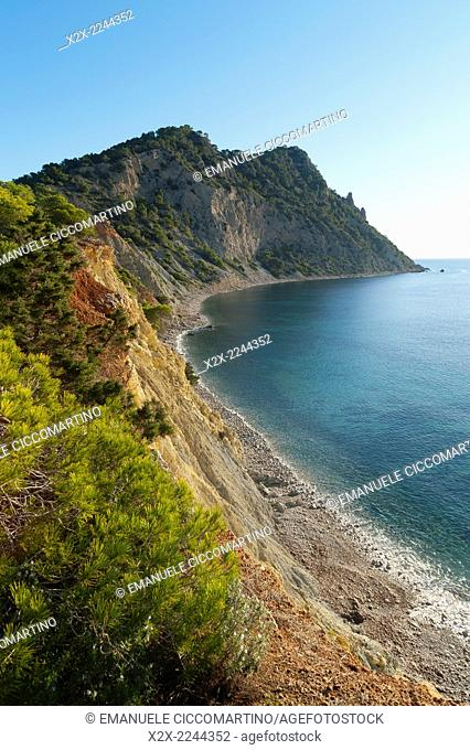Playa Cala Llonga, Santa Eulalia, Ibiza, Balearic Islands, Spain, Mediterranean, Europe