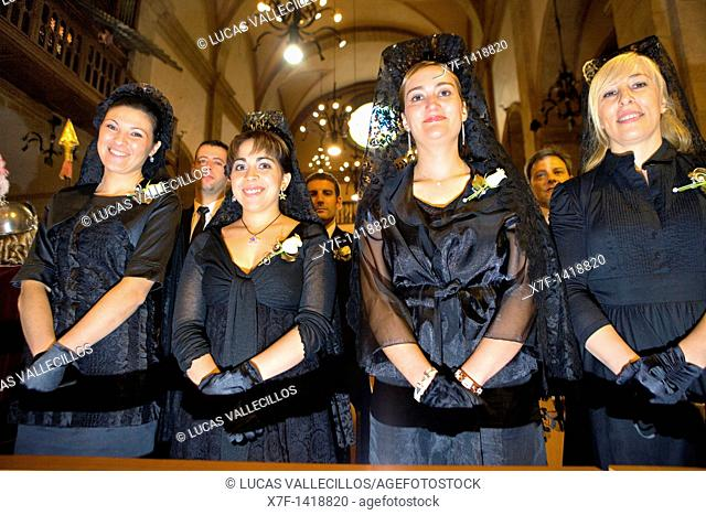 Administrators  Mass  Parish Church  La Patum Masterpiece of Oral and Intangible Heritage by UNESCO Berga  Barcelona  Catalonia  Spain