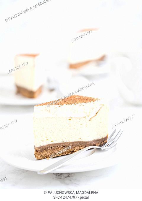 A slice of New Yesork cheesecake