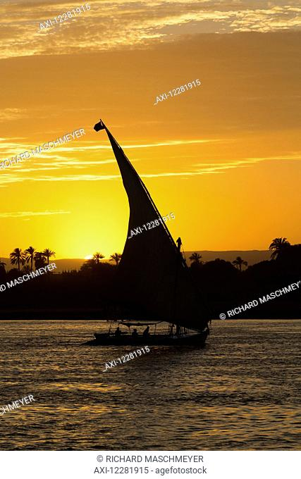 Felucca on the Nile River; Luxor, Egypt