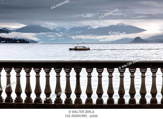 Balustrade, Lake Maggiore, Piedmont, Lombardy, Italy